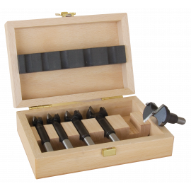 Woodcase with 15 carbide universal bit Ø 10-12-15-16-18-20-22-25-26-28-30-35-40-45-50
